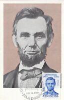 MXC48) 1960, Argentina, Abraham Lincoln, maximum card