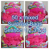 Shopkins Mixed -50 x Surprise Bags - New from packet sealed in surprise bags!