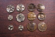 New listing A Wafer Button Mixed Lot 12 Vtg Antique Celluloid Flat Etched Carved Dress Craft