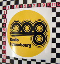 1970's Radio Luxemburgo Coche Clásico pegatina de cristal-Cooper Anglia Imp Mgb Tr6 Gt