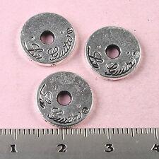 20pcs Tibetan silver round rim charm findings h1729