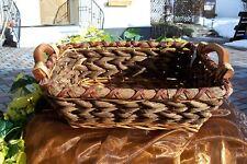 Korb Schale 38cm Rustikal mit Holzgriffe Brotkorb Obstschale  VERSANDKOSTEN FREI