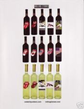 ROLLING STONES WINE POSTER HANDBILL TWO SIDED VERY RARE