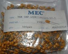 25  15uf 16v tantalum capacitor 2.5mm pitch MEC part no 156K16