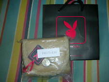 PLAYBOY PURSE CAMEL NEW  WILL GIVE BLACK PLAYBOY BUNNY CARRIER GIFT BAG NEW