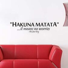 Removable Hakuna Matata Words Wall Sticker PVC Art Home Room Decor DIY FW