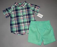 Baby boy clothes, 3T, Carter's dress shirt, matching shorts/DETAILS!!