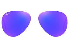 LENTI RICAMBIO RAY BAN 3025 55 68 AVIATOR BLUE MIRROR LENSES BLU SPECCHIO