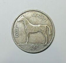 IRELAND: IRISH SILVER  HALF CROWN 1928. KM 8. FIRST YEAR OF ISSUE. FREE SHIPPING