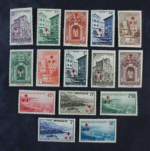 CKStamps: France Stamps Collection Monaco Scott#B36-B50 Mint H OG 1 Tear