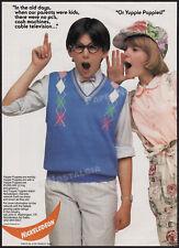 NICKELODEON__Original 1985 Trade print AD promo / poster__Yuppie Puppies_Nick TV