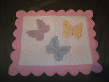 Company Kids The Company Store STD Pillow Sham Gingham Butterflies Pink Yellow