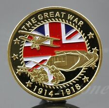 Gold Plated The Great War Commemorative Coin Art Collection Colored Collectible
