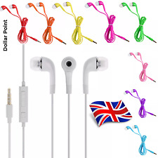 Colourful Noise Isolating Handsfree Headphones Earphones Earbud with Mic