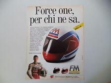 advertising Pubblicità 1989 CASCO HELMET FM FIMEZ e FABRIZIO PIROVANO