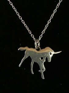 Sterling Silver Unicorn Pendant with Adjustable Sterling Silver Chain 20-24 Inch
