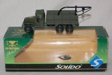 Solido 1:50 - GMC LOT 7 Kran - Fahrerhaus mit Plane - olivgrün - OVP grün