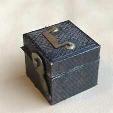 Antique Inkwell Travel Inkwell Victorian 1880s 19th Century Black Leather Old