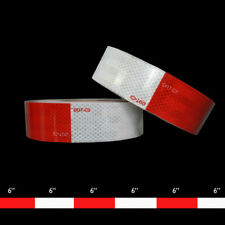 """Diamond Grade DOT-C2 Conspicuity Tape [ROLL] 2""""(48mm) x 150'; 6"""" White x  6"""" Red"""