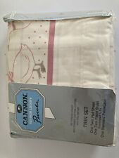 Cannon Percale Twin Sheet Set Vintage New