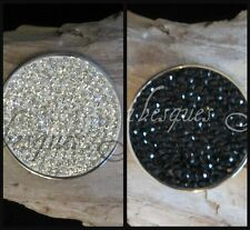 1x grandes Reversible coin/moneda para mi Milano Collar. Cristal Genuino Sterlina