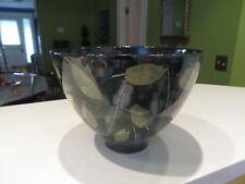 Signed Sophie MacCarthy Ceramics London LEAVES & OLIVES Bowl 4 1/8
