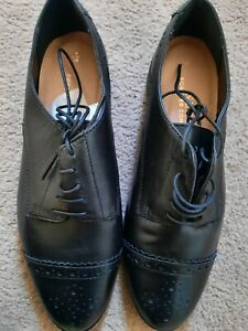 NEXT Forever comfort women's black leather brogues/formal/school shoes size 5