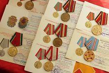 8 Medals Russian Ukrainian Award Jubilee Medal +Doc