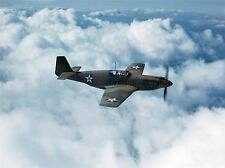 Military Air Plane JET DA COMBATTIMENTO USAF P 51 Mustang Poster Art Print PICTURE bb1179a