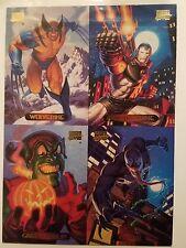 Marvel Masterpieces 4-Card Uncut dealer  Promo Sheet 1994 RARE HTF Hildebrandt