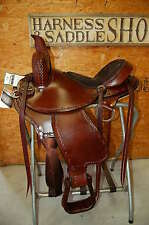 "Gw Crate 16"" Draft Horse Cross Saddle Trail Pleasure Custom Made Free Ship"