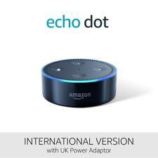 Amazon Echo Dot (2nd Generation 2017) Black-International Version UK power Adapt