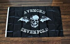 New listing New Avenged Sevenfold Banner Flag 3x5 Death Bat Skull Ships from the Usa