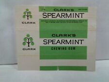 Vtg Belgium Chewing Gum Wrapper Clark Spearmint