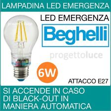 BEGHELLI  LAMPADA LED ANTI BLACK OUT  ZAFIRO EMERGENZA  6W 230V E27 2700K