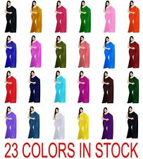 Women Girl Bollywood Saree Sari Dress Drape Curtain Wrap Shawl Indian Party Wear