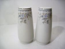 Johann Haviland Porcelain Pale Blue Spring Flower Garland Salt & Pepper Set MINT