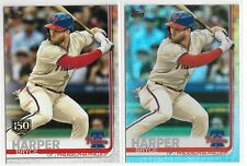 Bryce Harper 2019 Topps Series 2 Rainbow Foil 150 Year Stamp Parallel 2-Card Lot