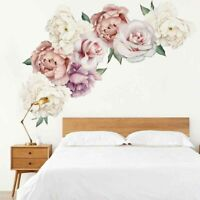 Bedroom Home Decor Nursery Art Decal Wall Sticker Peony Flower Living Room DIY