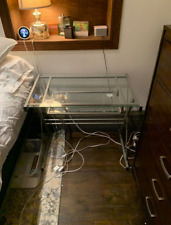 Used Desk glass for laptop and bedroom