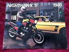 1985 HONDA NIGHTHAWK DEALER SALES BROCHURE ORIGINAL