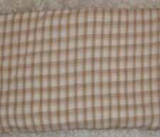 Beige & White Plaid Gauze Cotton/Polyester Blend Fabric - 4 1/4 yards - NEW!