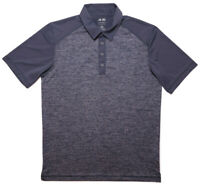 ADIDAS GOLF Short Sleeve Polo Shirt B82560 Blue Gray Heather Medium M