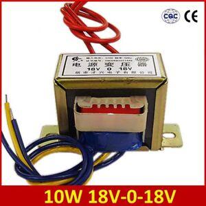 Input AC 220V/50Hz 10W Dual 18V 18V*2 Power Transformer Output AC 18V-0-18V EI48