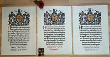 WW1 Memorial Scroll Certificate   Reproduction scroll issued to the next of kin