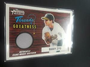 Barry Zito 2004 Bowman Heritage Threads Jersey Relic #BZ Athletics H21