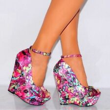 High (3 in. to 4.5 in.) Satin Unbranded Heels for Women