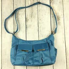 Travelon Anti-Theft Crossbody Shoulder Bag Purse Handbag Blue Hobo