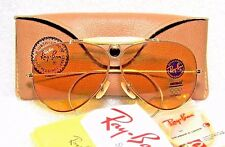 RAY-BAN *NOS VINTAGE B&L AVIATOR *AMBERMATIC L9678 BulletShooter *NEW SUNGLASSES