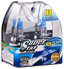 H3 Birnen Xenon Optik Halogenlampen 8500K Super Weiss 12 Volt 55 Watt SuperStar
